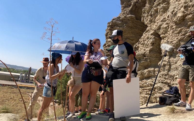 Rodaje de la película ´El efecto Darma´, bajo la dirección de José Luis Rojas, en las Lagunas del Campillo de Rivas Vaciamadrid