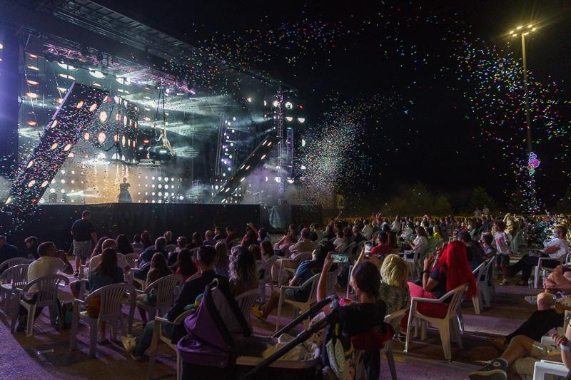 Orquesta tocando en las Fiestas de Rivas 2021