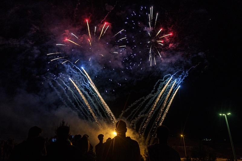 Fuegos artificiales en las Fiestas de Rivas Vaciamadrid 2021
