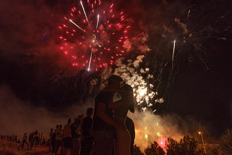 Fuegos artificiales en las Fiestas de Rivas 2021