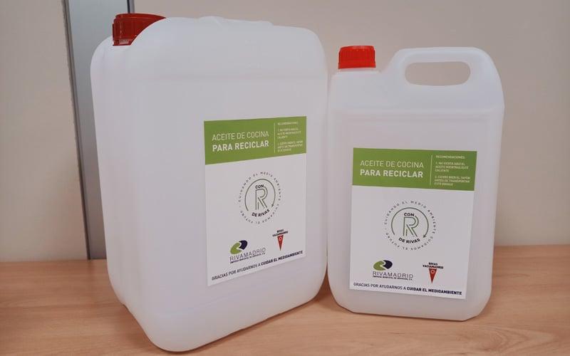 Recipientes para el aceite usado (foto: Ayuntamiento de Rivas)