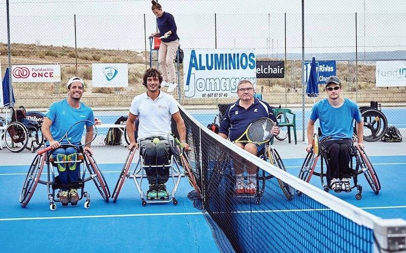 Jugadores en la edición de 2019 del Open Internacional de Tenis en Silla de Ruedas en Rivas