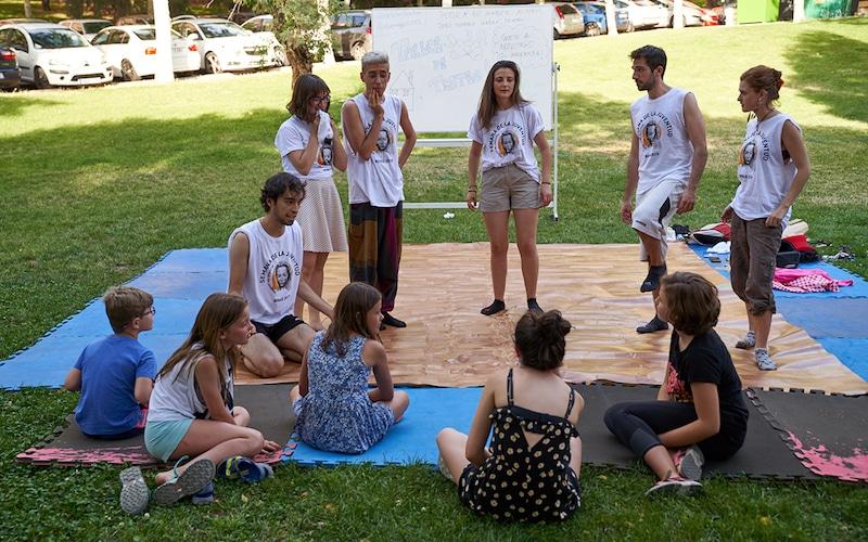 Una actividad de la Semana de la Juventud de Rivas en 2019