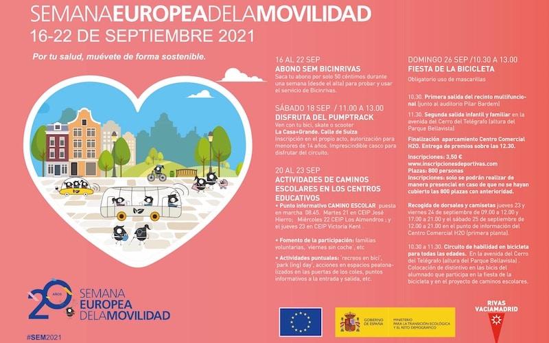 Rivas celebra la Semana Europea de la Movilidad: actividades, caminos escolares y gran fiesta de la bicicleta