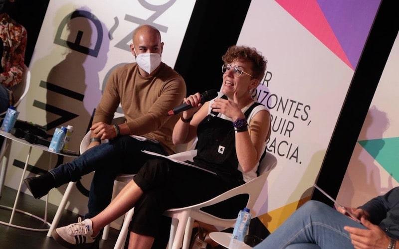 Virginia Hernández, alcaldesa de San Pelayo, durante la sesión formativa sobre municipalismo este sábado