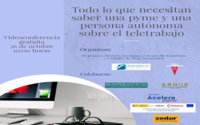 ASEARCO celebra un encuentro digital para resolver dudas legales sobre el teletrabajo a pymes y autómos